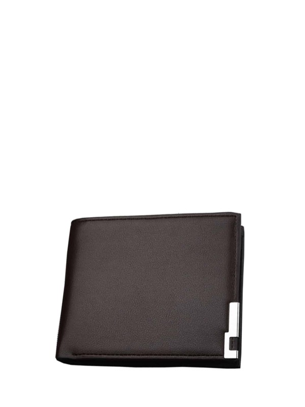 Men PU Fold Over Wallet, null