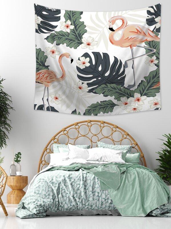 Flamingo Print Tapestry, null