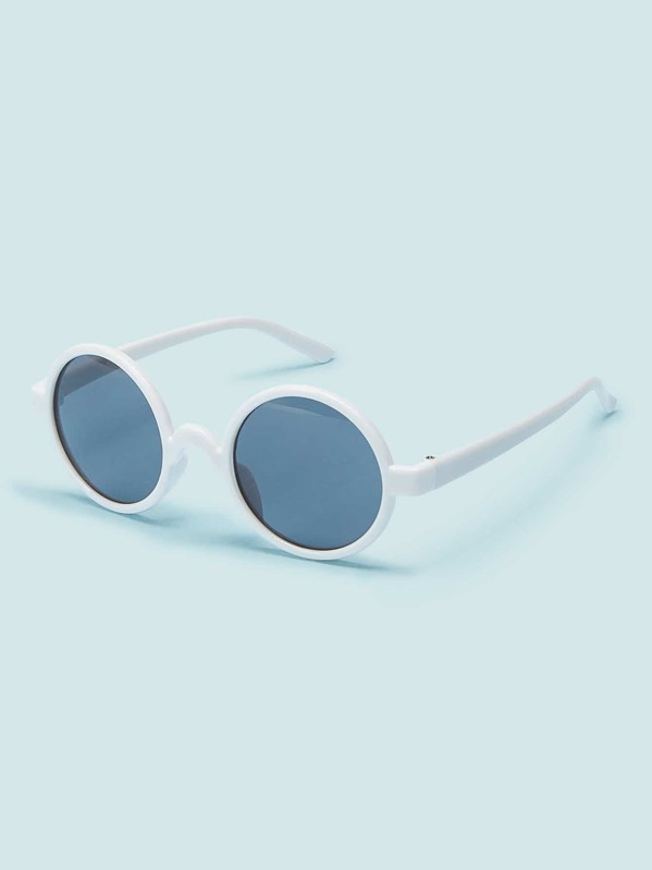 Toddler Girls Round Frame Tinted Lens Sunglasses, null