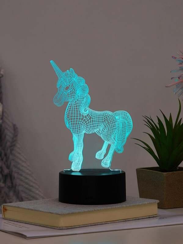 Unicorn Shaped Colourful Table Lamp, null