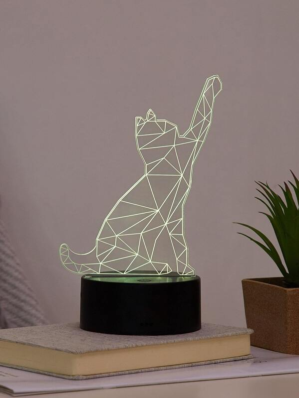 Cat Shaped Colourful Table Lamp, null