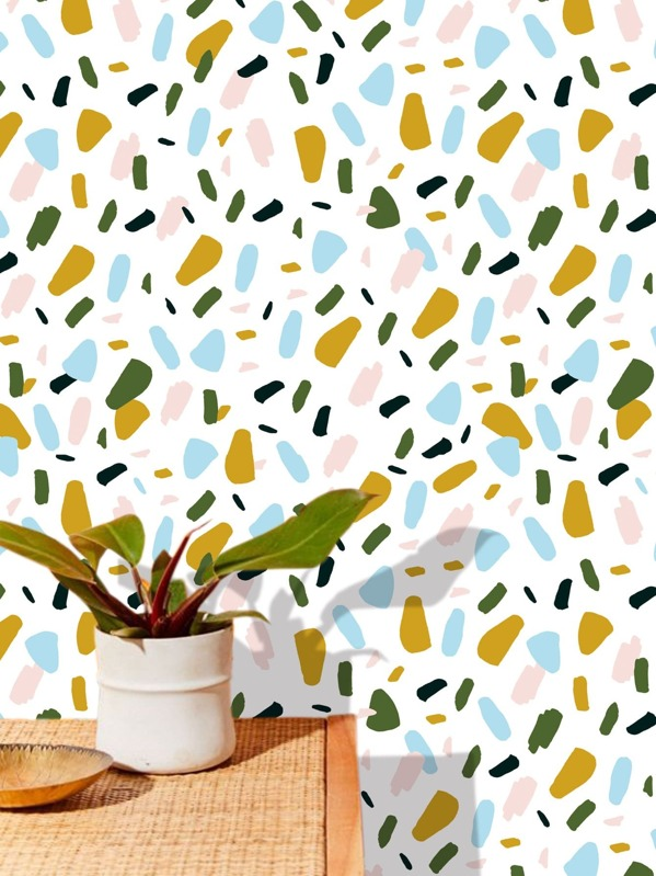 Graphic Print Wall Paper, null