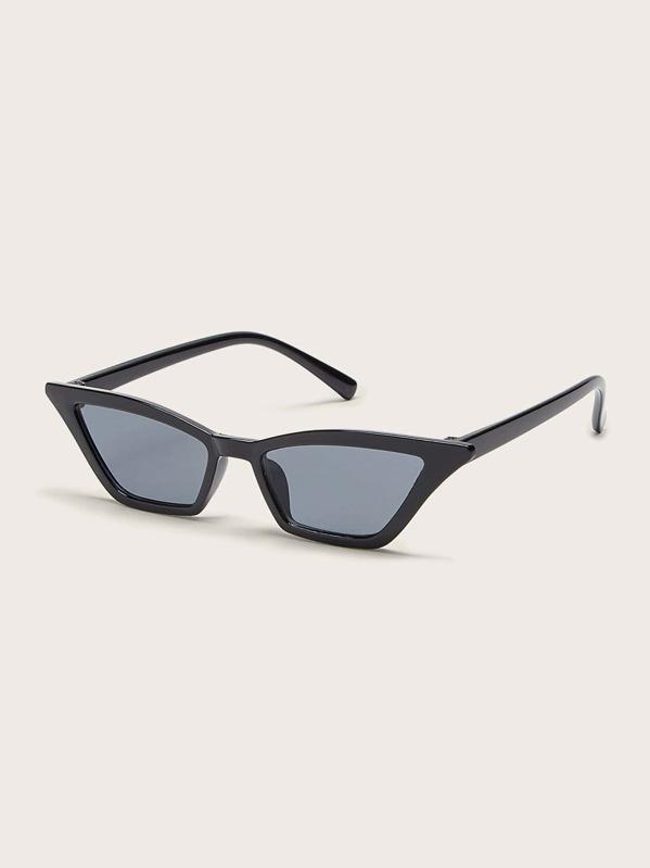 Girls Cat Eye Flat Lens Sunglasses, null