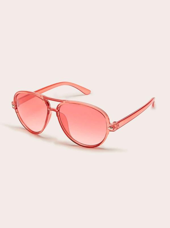 Toddler Girls Transparent Frame Tinted Lens Sunglasses, null