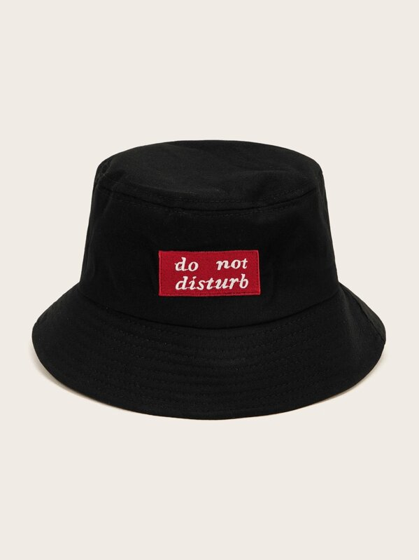 Men Letter Embroidery Bucket Hat, null