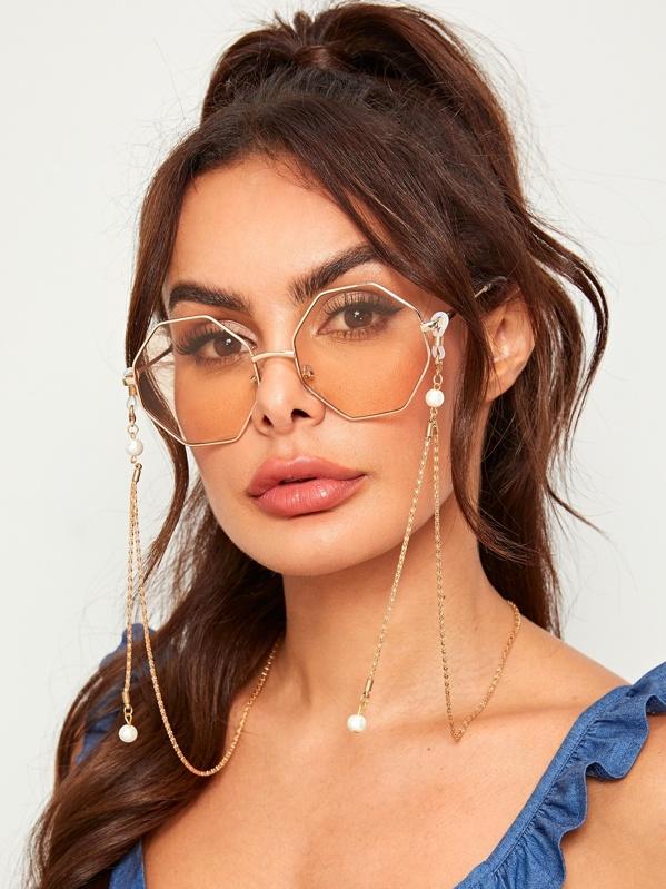 Faux Pearl Detail Glasses Chain