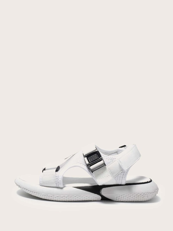Men Open Toe Cut Out Sandals, null