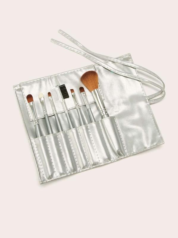 Makeup Brush Set 7pcs With Roll Bag