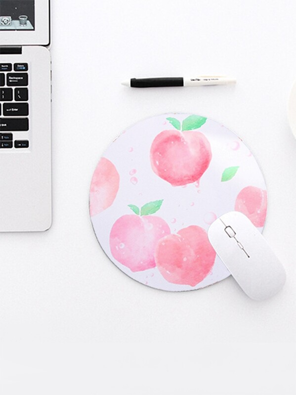Peach Print Mouse Pad, null