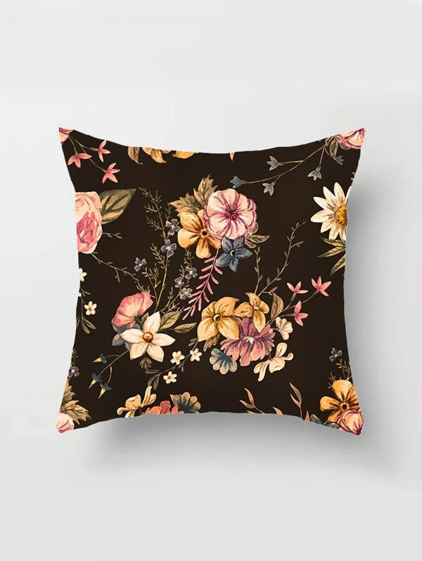 Floral Pattern Print Cushion Cover, null