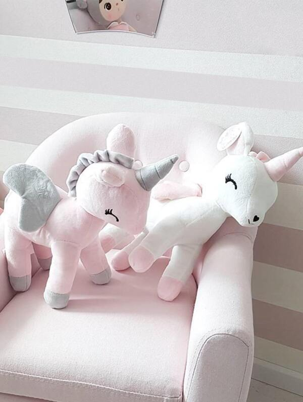 Unicorn Shaped Decorative Pillow 1pc, null