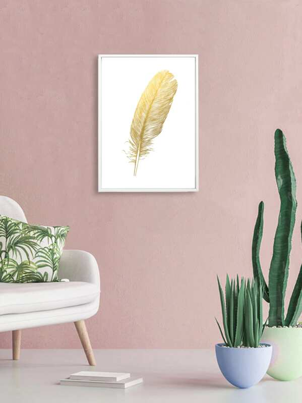 Feather Wall Art Print Without Frame, null