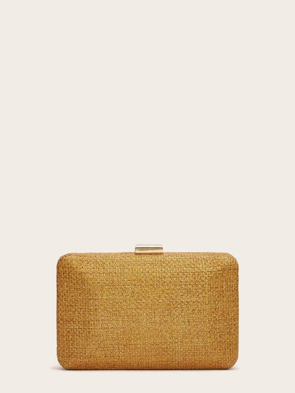 Braided Detail Clutch Bag With Chain Strap, null