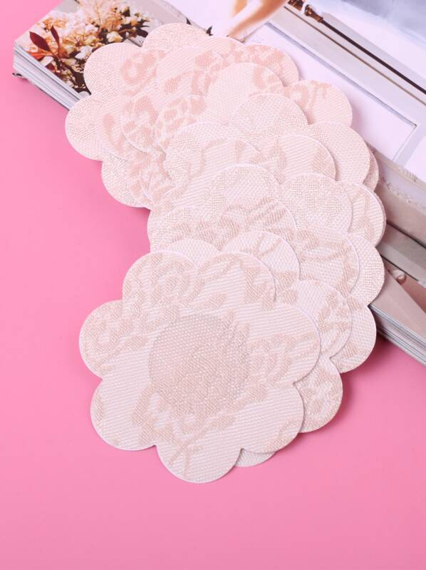 Flower Shaped Nipple Cover 5pairs, null