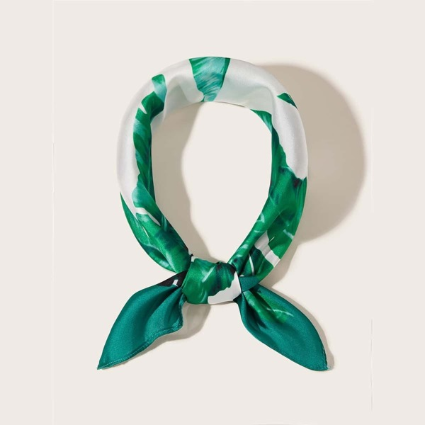 Palm Pattern Bandana, Green