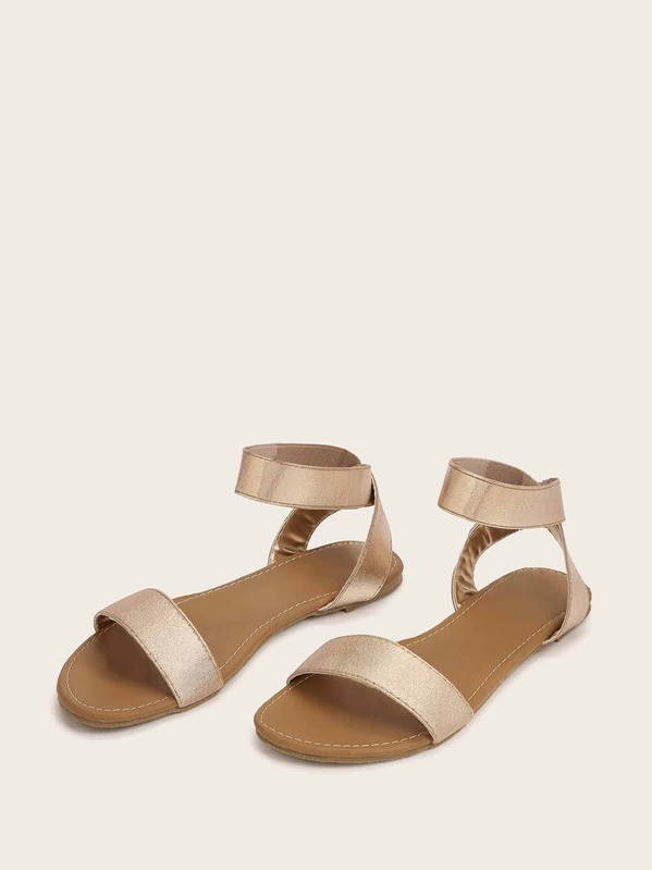 Open Toe Ankle Strap Sandals, null