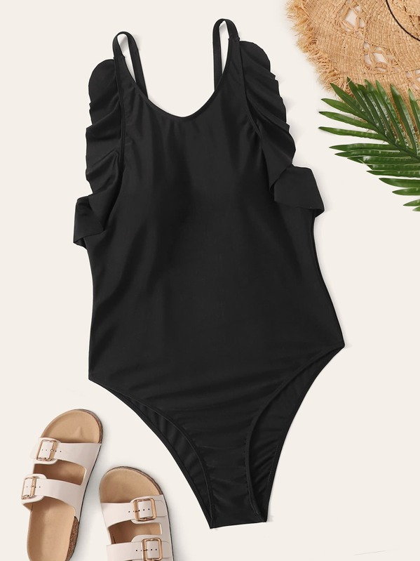 Plus Lettuce Trim One Piece Swimwear, null