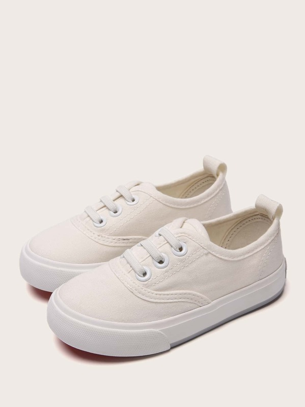 Baby Girls Lace-up Canvas Sneakers, null