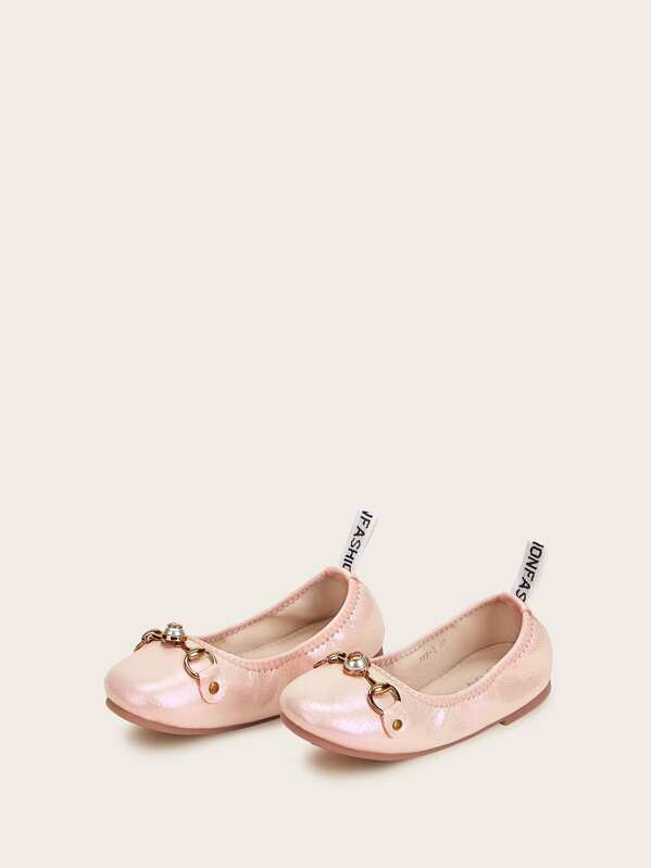 Toddler Girls Faux Pearl Decor Ballet Flats, null