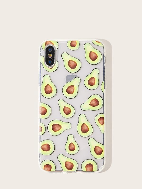 Avocado Pattern iPhone Case, null