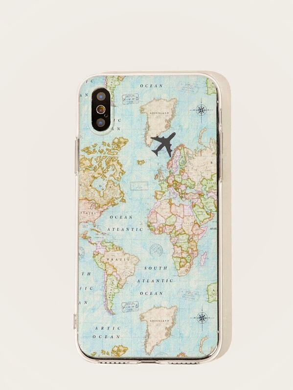Map Pattern iPhone Case, null