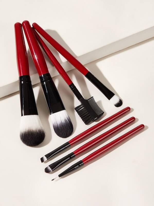 Duo-fiber Makeup Brush 7pcs With Bag