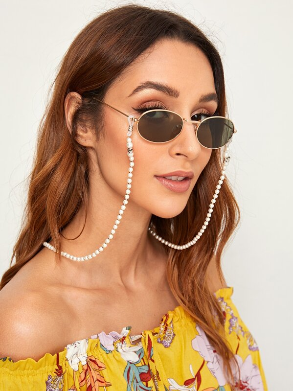 Faux Pearl Beaded Glasses Chain