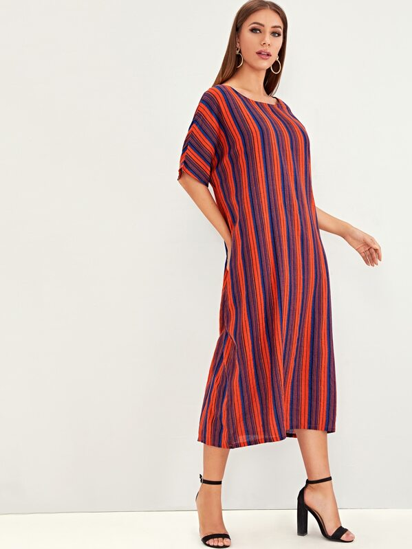 Colorful Striped Tunic Dress, Hanna