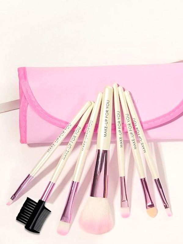 Makeup Brush Set 7pcs With Pouch