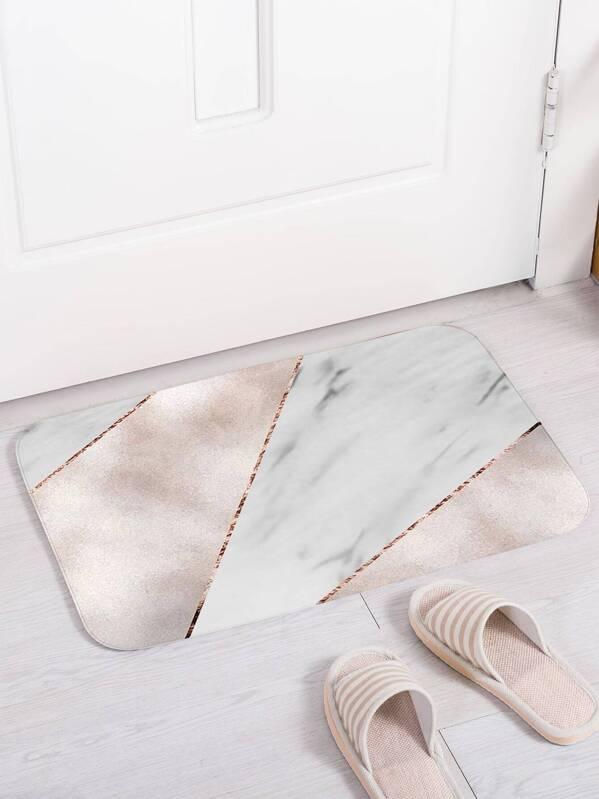 Marble Pattern Print Floor Mat