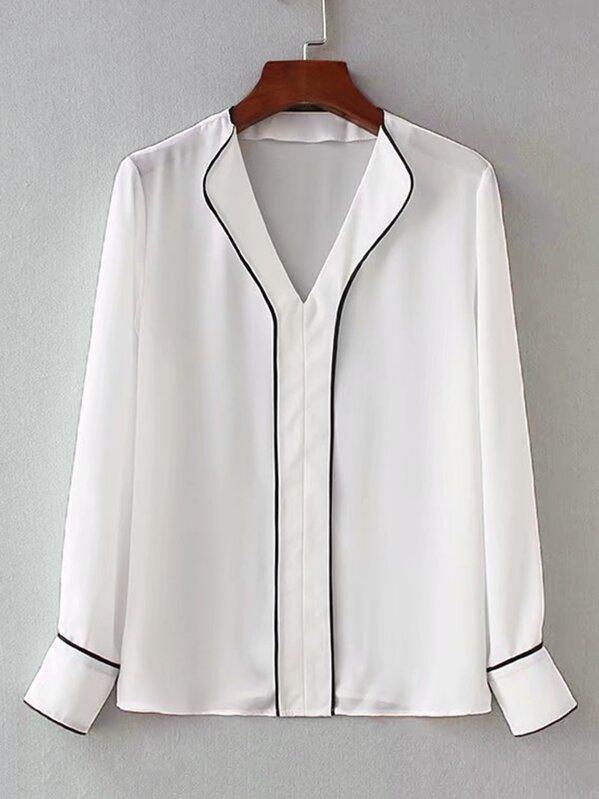 Повседневный Белый Блузы+рубашки, null