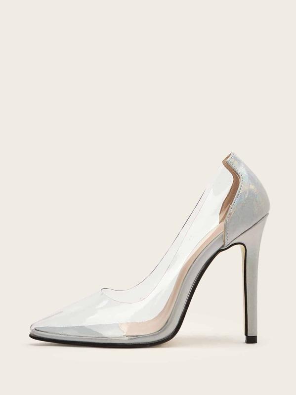 Острый носок Серебряный Каблуки, null