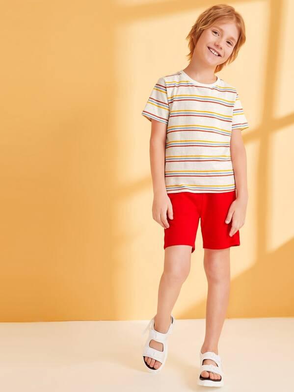 Boys Short Sleeve Striped Top, Misha A