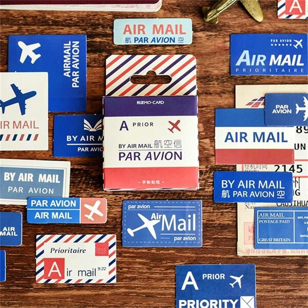 Boxed Air Mail Design Sticker 46pcs