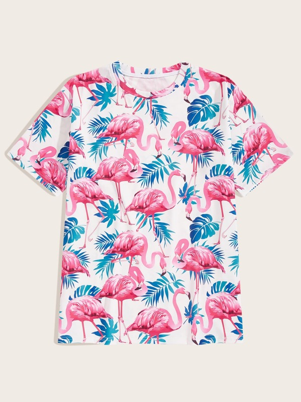 Men Flamingo Print Tee, null
