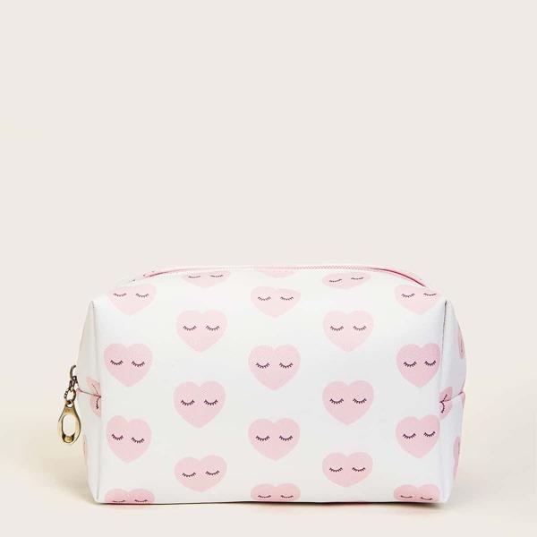 Heart Pattern Makeup Bag