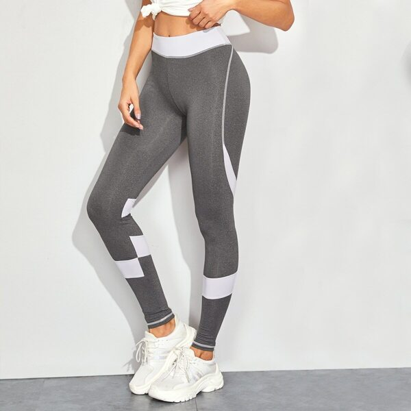Contrast Panel Skinny Leggings