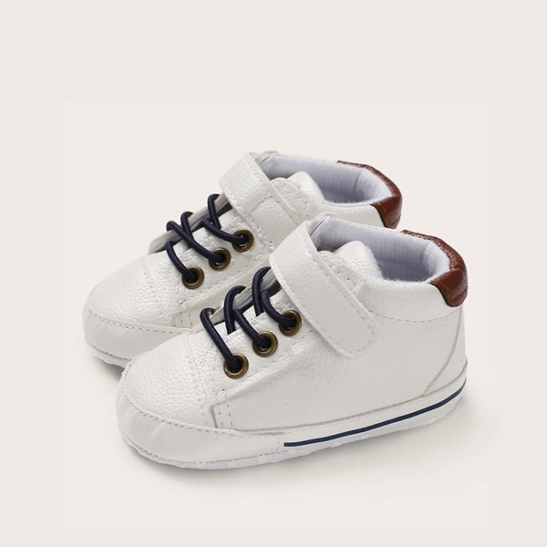 Baby Boys Lace-up Front Velcro Sneakers