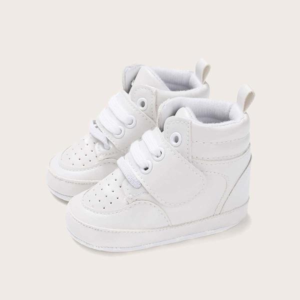 Baby Boys Scoop Cut Perforated High Top Sneakers