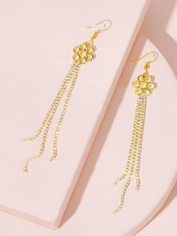 Ring Tassel Drop Earrings 1pair, null
