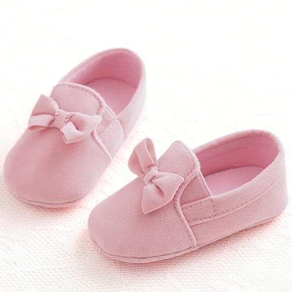 Baby Bow Decor Slip On Flats