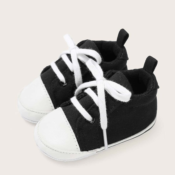 Baby Boys Lace-up Front Two Tone Sneakers