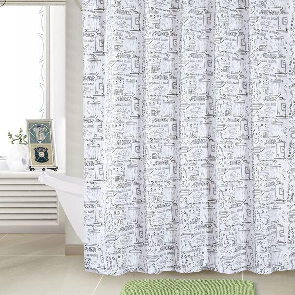Cartoon Nozzle Pattern Shower Curtain