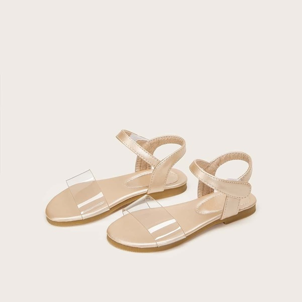 Toddler Girls Clear Strap Velcro Sandals