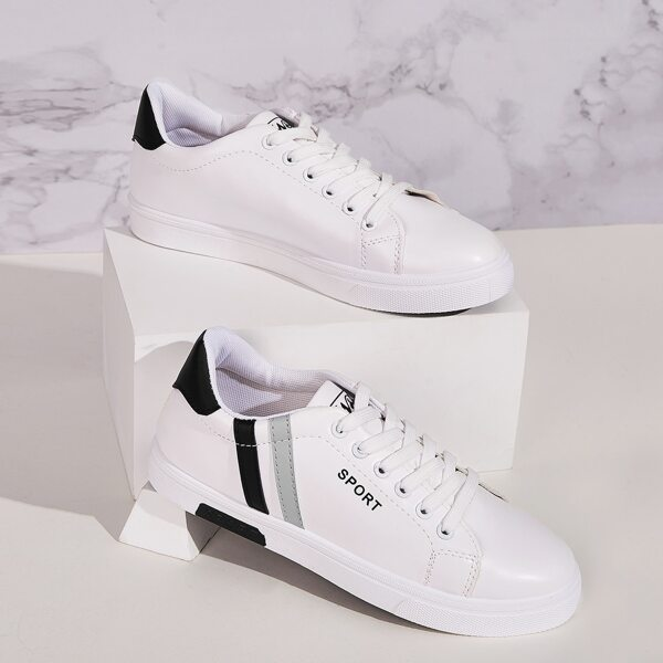 Men Striped Lace-up Front Sneakers