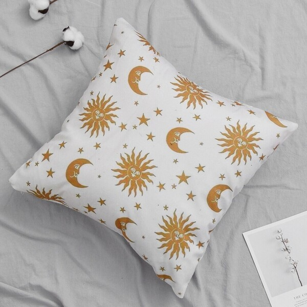 Hot Stamping Moon & Sun Cushion Cover