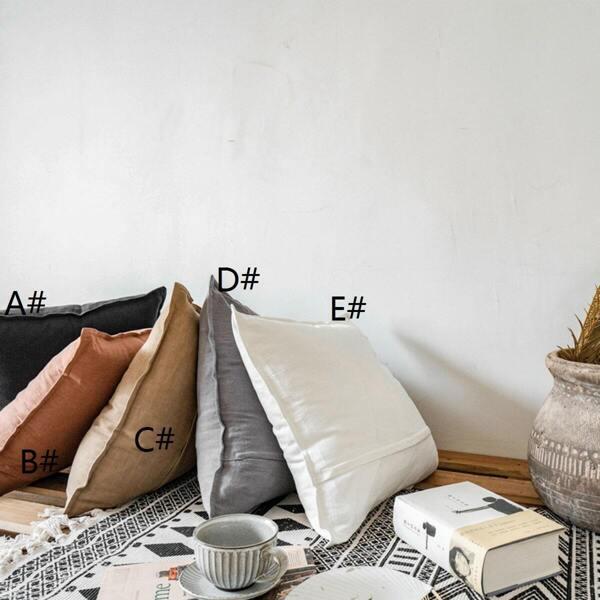 Plain Linen Cushion Cover 1pc