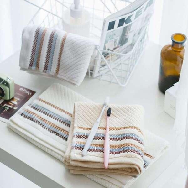 Stripe Pattern Twill Towel 1pc