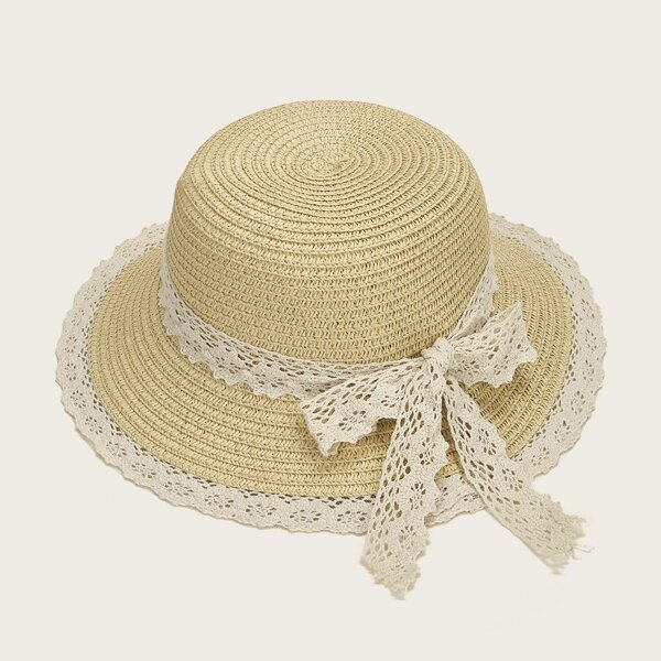 Toddler Girls Lace Bow Knot Floppy Hat