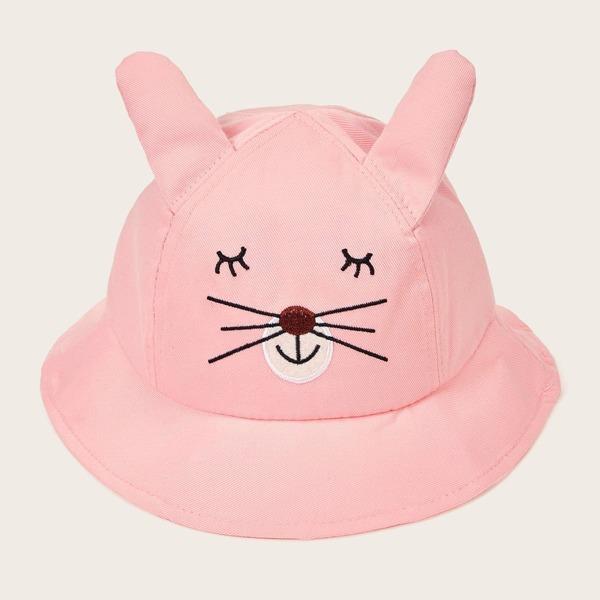 Toddler Girls Cartoon Pattern Bucket Hat